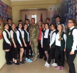 Зустріч учнів Одеської гімназіі 7 з Отаманом