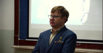 Зустріч студентів з Володимиром Жемчуговим.
