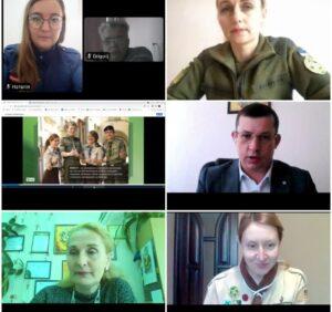 Онлайн нарада з питань розвитку національно-патріотичного виховання
